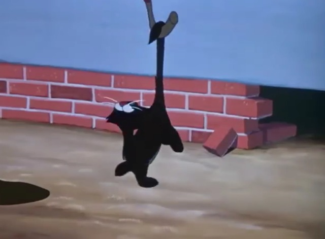 The Adventures of Ichabod and Mr. Toad - black cat steps out in front of Ichabod