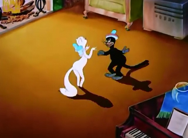 The Alley Cat - society cat and alley cat dancing
