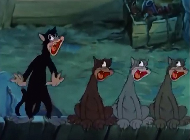The Alley Cat - alley cats serenading from fence