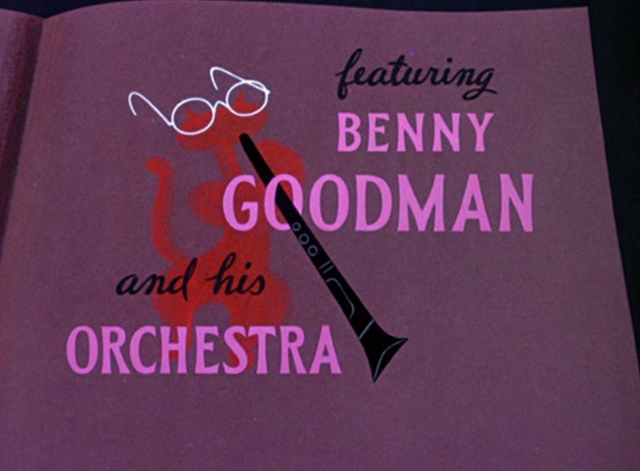 All the Cats Join In - Benny Goodman title with cat