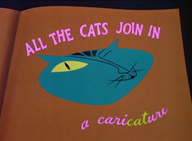 All the Cats Join In - main title with cat