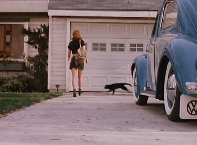 Amanda & the Alien - black cat running across driveway