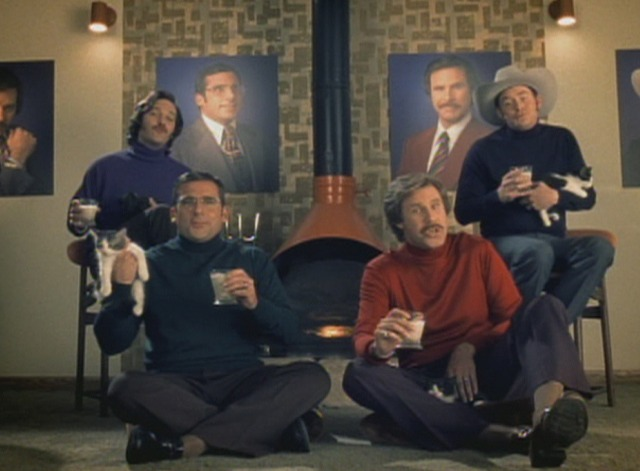 Anchorman - Afternoon Delight music video - guys holding kittens