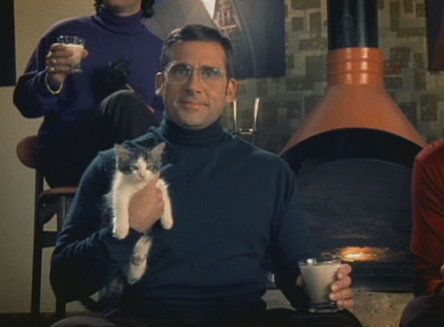 Anchorman - Afternoon Delight music video - Steve Carell holding kitten
