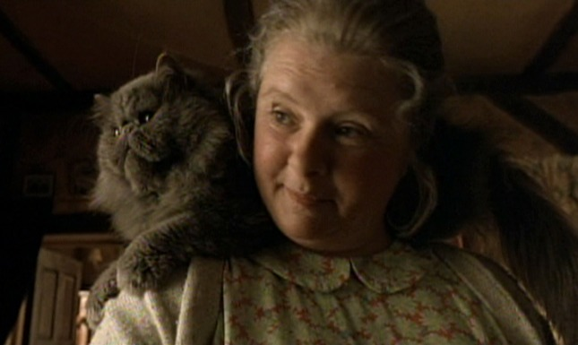 Babe - Duchess cat with Mrs. Hoggett