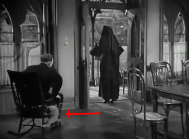 The Bells of St. Mary's - kitten on chair squeezing out from beneath Father O'Malley Bing Crosby