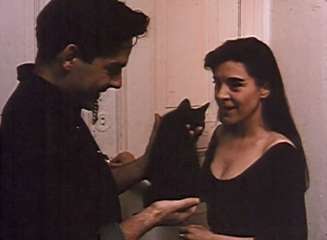 The Blue Hour - Theo Andreas Herder presents Marie Dina Leipzig with a black kitten