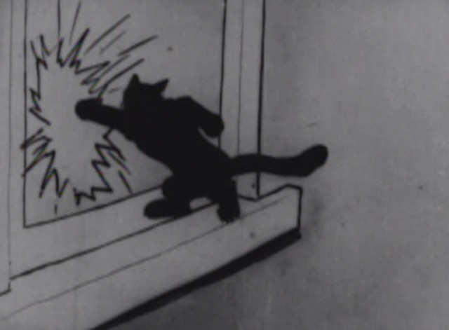 Bobby Bumps' Pup Gets the Flea-enza - cat punches pup through window