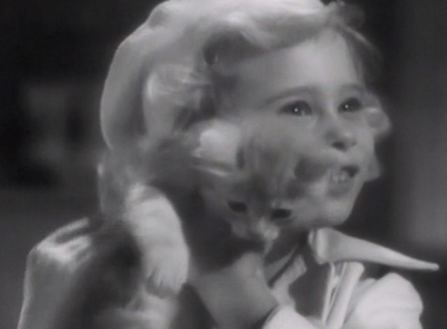 Broadway Musketeers - little girl Judy Janet Chapman holding small ginger tabby kitten