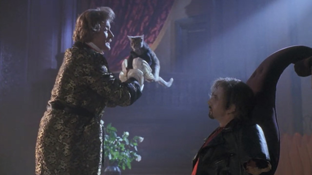 Buffy the Vampire Slayer - Lothos Rutger Hauer holding up tabby kitten with Amilyn Paul Reubens