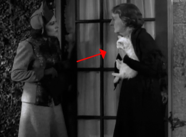 Bulldog Drummond's Peril - Phyllis with woman at door holding white cat