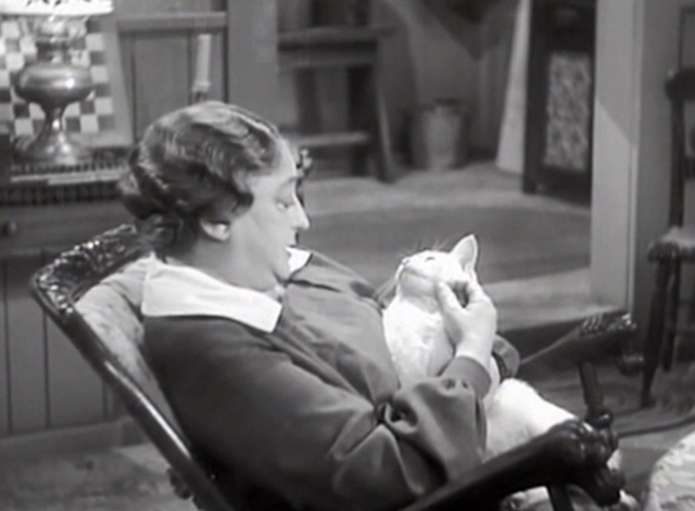 Captain Hurricane - Abbie Howland Helen Westley with white cat Puffy Whitey