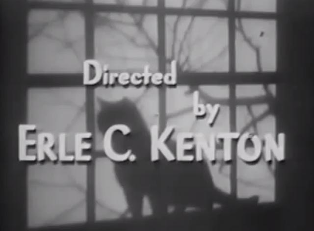 The Cat Creeps - black cat silhouette in window under director's credit