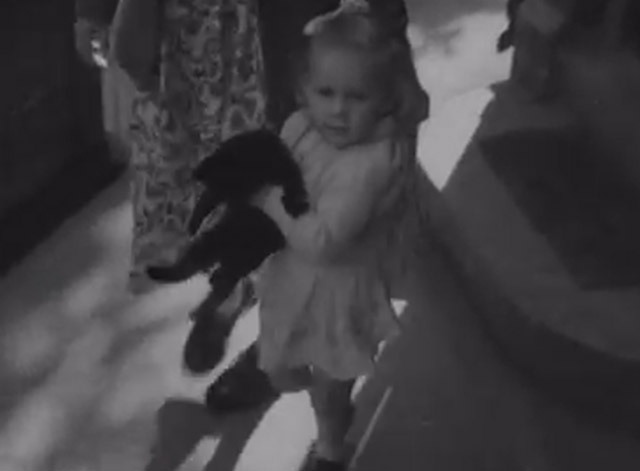 Cats, Dog, Mice and a Goldfish Go to Church - little girl carrying black cat