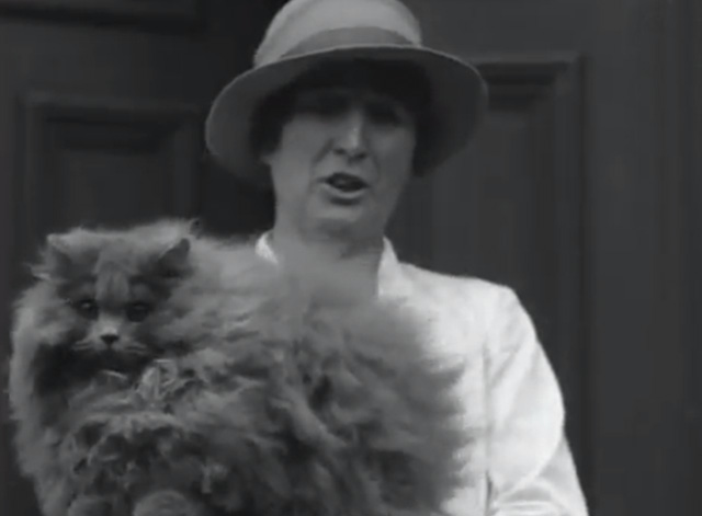 Cat Show 1930's - woman holding curly long haired cat