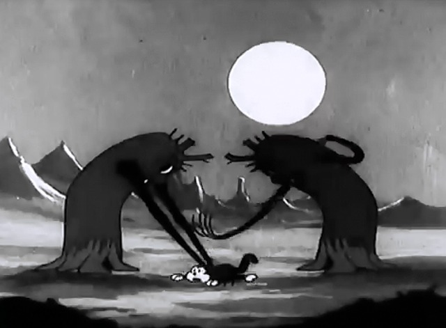 Disney Silly Symphony The Cat's Out - cat being hit by trees