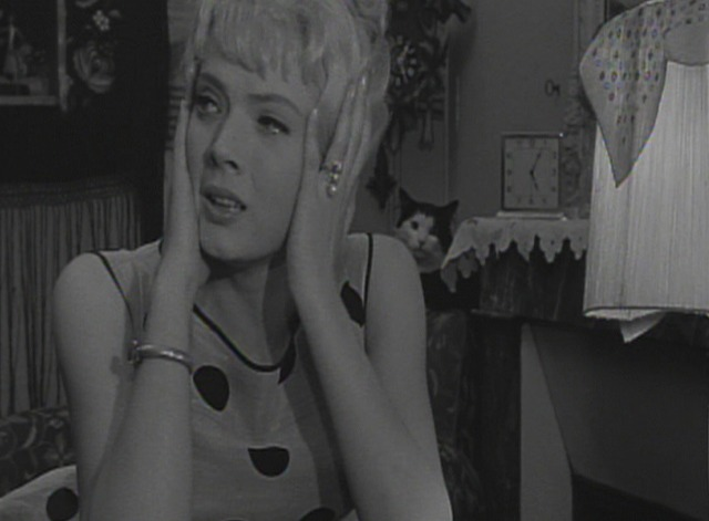 Cleo from 5 to 7 movie scenes Cat Burglars Scene Stealers In Cl o s apartment there is a large amount of kittens with one mother cat Mostly the kittens are in the background