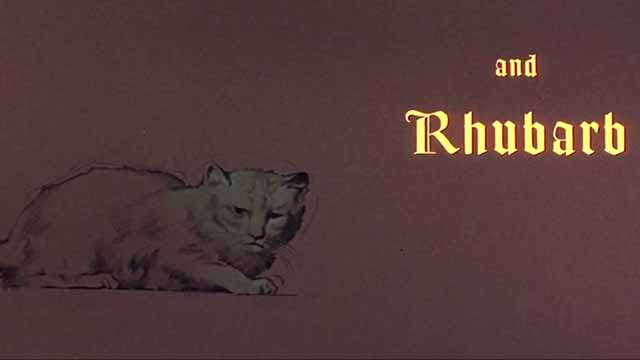 The Comedy of Terrors - Rhubarb Cleopatra ginger cat credit at opening of film