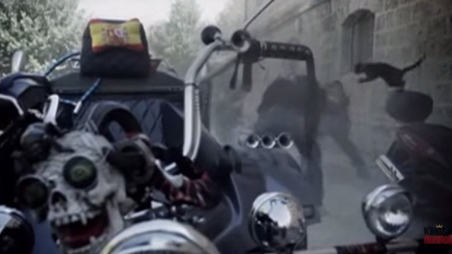 The Corpse Grinders 2 - computer generated cat attacking motorcycle gang