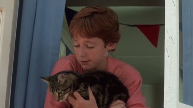 Critters - Brad Scott Grimes holding Bengal tabby cat Chewie in window