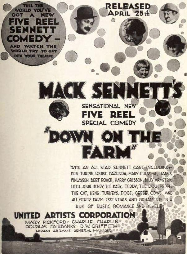 Down on the Farm - print ad for comedy film