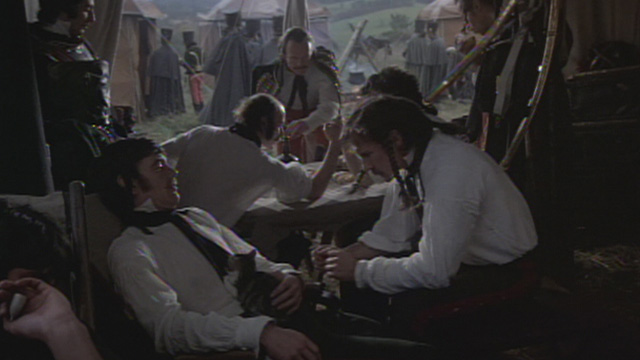 The Duellists - Feraud Harvey Keitel holding up kitten as he talks to officer