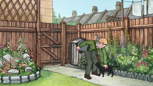 Ethel & Ernest - Raymond Briggs greeting black cat Susie