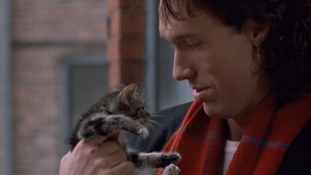 Excessive Force - Terry Thomas Ian Griffith holding up tabby kitten