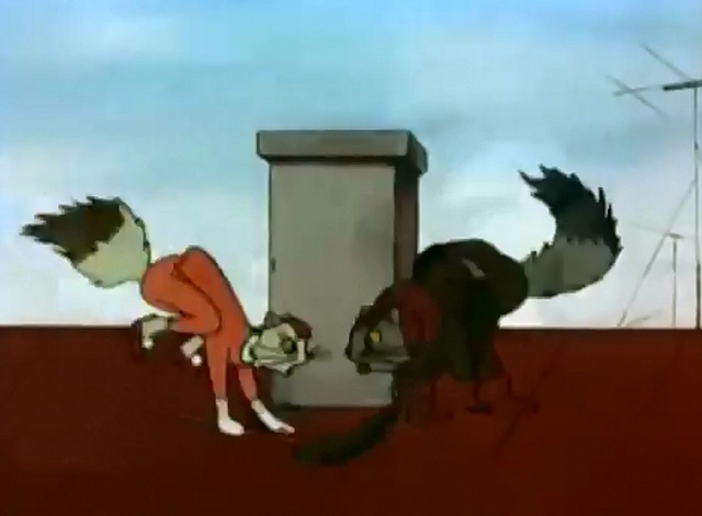 The Family Chronicle - cat couple fighting on roof