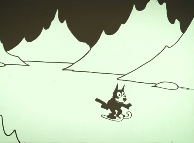 Felix Comes Back - Felix the cat on skiis