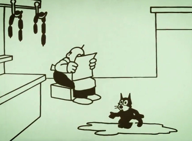 Felix Comes Back - Felix the cat thaws inside butcher shop