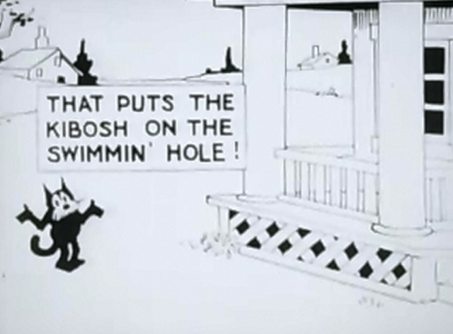 Felix in the Swim - Felix the Cat can't go to the swimming hole