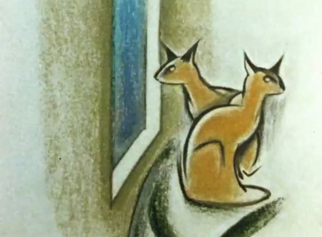 Furies - two cats sitting by window