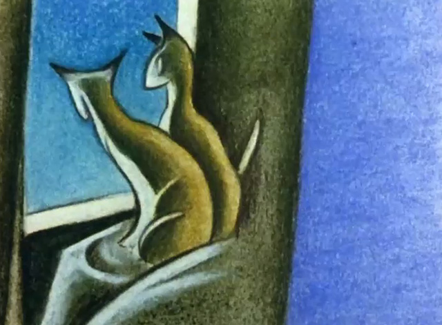 Furies - artistic cats sitting by window