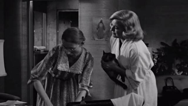 The Goddess - Emily Ann Faulkner Kim Stanley holding Siamese cat while pleading with mother Betty Lou Holland