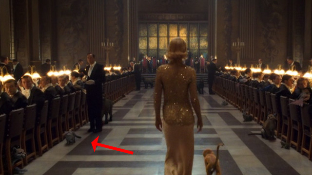 The Golden Compass - cat in background of eating hall scene