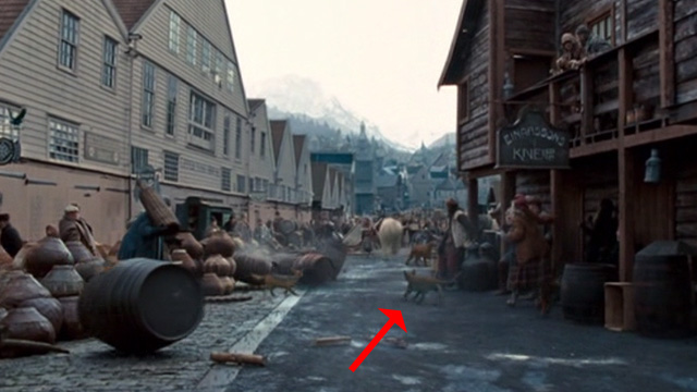 The Golden Compass - cat in background of street scene