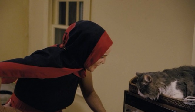 Grey Gardens HBO - Edie with cat