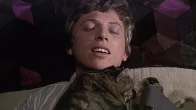 Half a Sixpence - Arthur Kipps Tommy Steele waking up with Bengal tabby cat Edwin on his chest