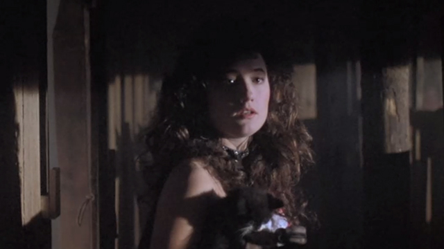 Halloween 5: The Revenge of Michael Meyers - Tina Wendy Kaplan holding tuxedo kitten