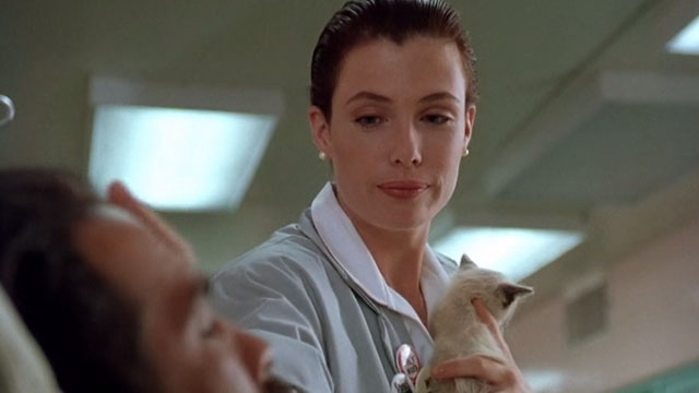 Hard to Kill - Andy Kelly LeBrock taking Siamese kitten away from Mason Storm Steven Seagal in coma