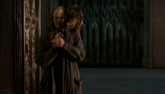 Harry Potter and the Order of the Phoenix - Argus Filch and Mrs. Norris cat
