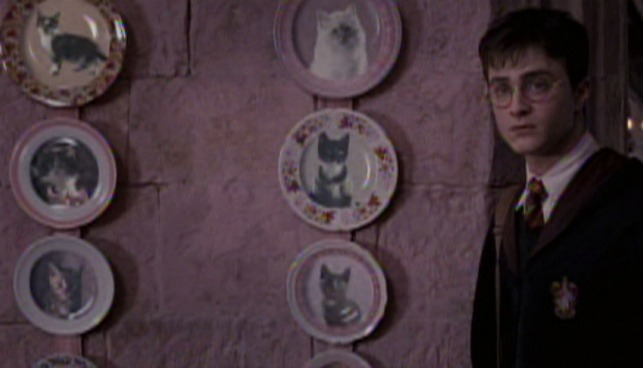 Harry Potter and the Order of the Phoenix - cat kitten plates on Umbridge's office wall