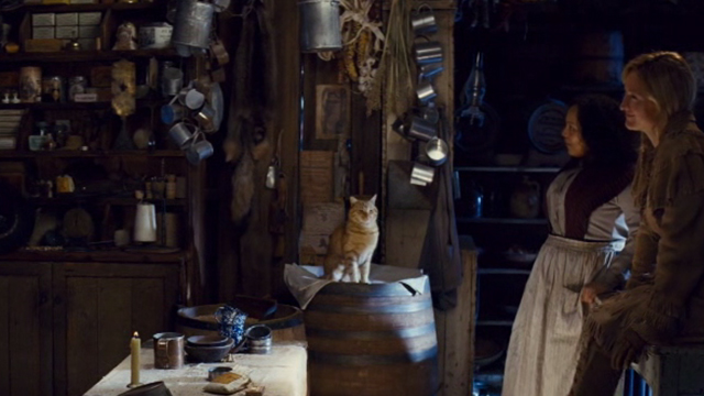 The Hateful Eight - cat sitting off to one side