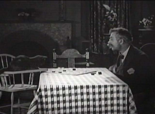 His Unlucky Night - Pussums the cat playing checkers with Andy Clyde
