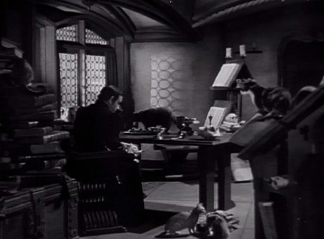 The Hunchback of Notre Dame 1939 - Frollo's chamber filled with cats