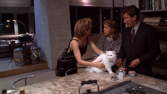 Jungle 2 Jungle - Charlotte Lolita Davidovich taking Coco white Persian cat away from Mimi-Siku Sam Huntington with Michael Tim Allen