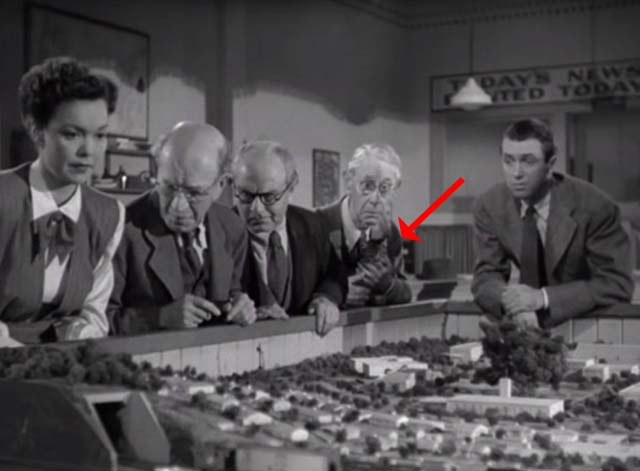 Magic Town - tabby kitten Panther watches model train with Mary Jane Wyman, Rip James Stewart and old men