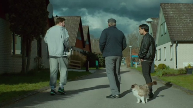 A Man Called Ove - Ragdoll cat being and friends following Ove Rolf Lassgårdm on his rounds