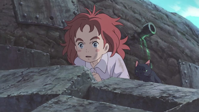 Mary and the Witch's Flower - Mary and black cat Tib